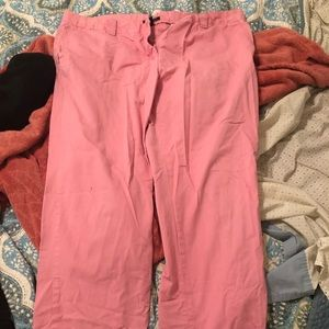 Pink Boot Cut Khaki Pants